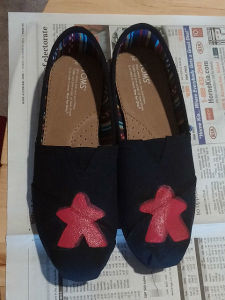 I painted meeples on my Toms shoes!
