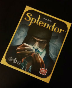Splendor plays 2-4 players. Game time is about 30 minutes.