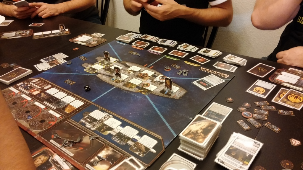 """Are you a Cylon? I bet you are!"" is basically every other line uttered during a game of Battlestar Galactica."