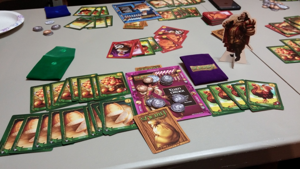 Sheriff of Nottingham is all about trying to bribe the sheriff to sneak in contraband.