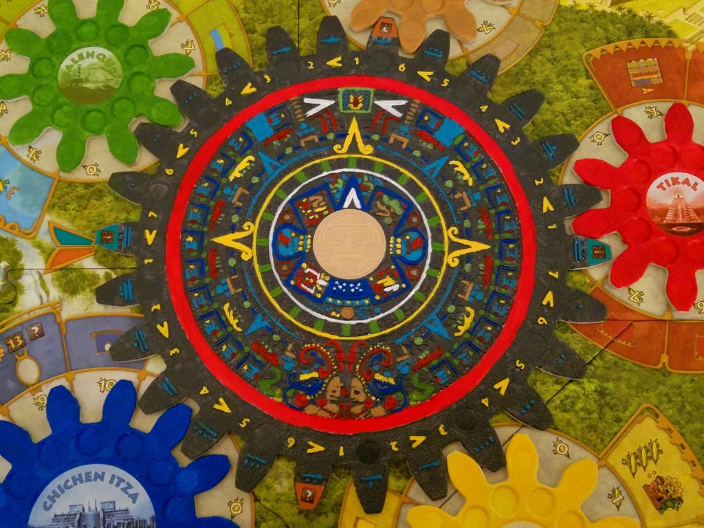 Here's a closeup of the final paint job on the Mayan calendar, which is the largest wheel in the game.