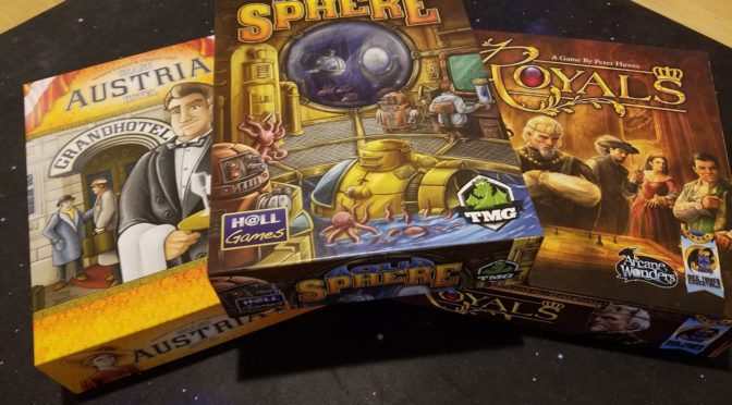 New game purchases: AquaSphere, Grand Austria Hotel, Royals