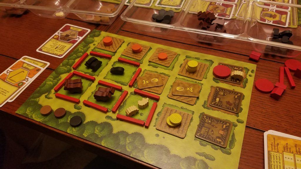 I used up every single square on my player board, but it still wasn't enough for the win. More sheep!