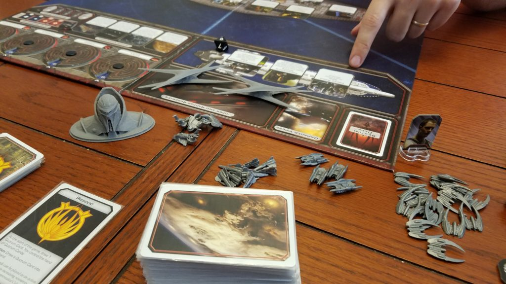 I always love playing Battlestar Galactica. And I hope every time that I'm human!