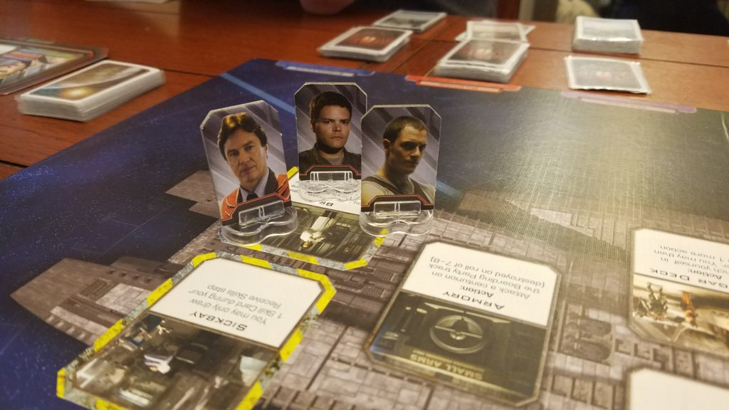 Somehow all 3 humans got brigged. But against all odds, we persevered and beat the Cylons!