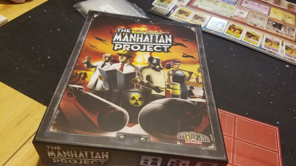 This was my first time playing the Manhattan Project.