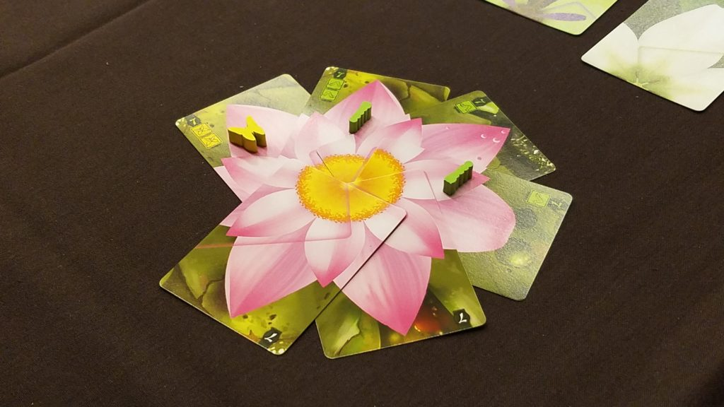Lotus is a gorgeous card game with flower petals.