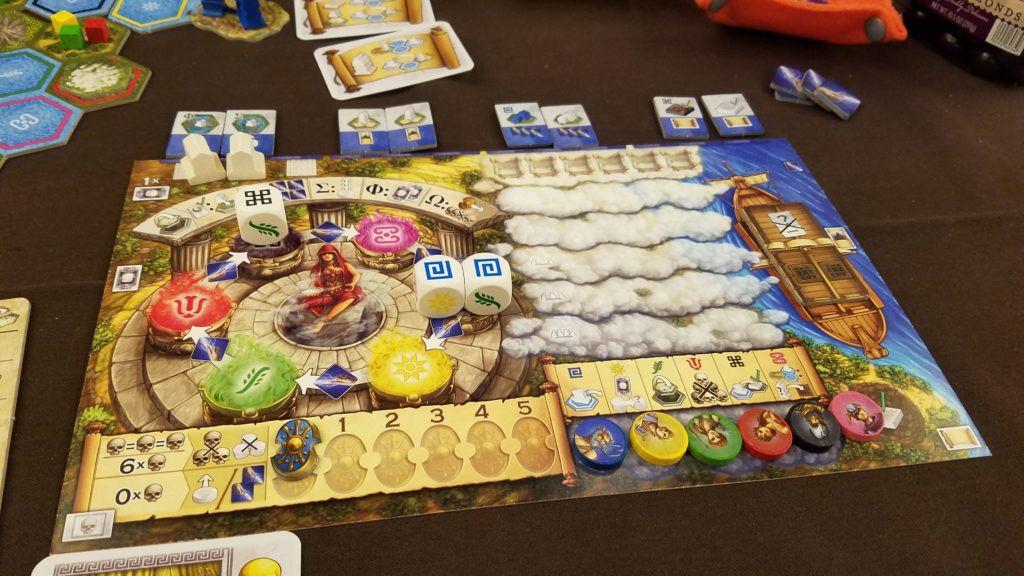 The player board in Oracle of Delphi is so colorful!