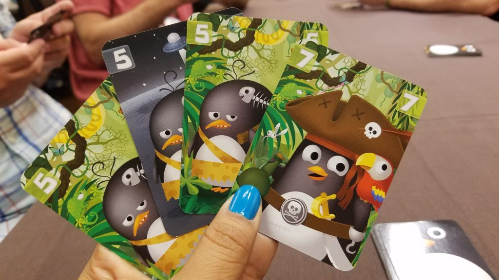 The artwork is so adorable in Zany Penguins, adorable enough that maybe your friend will forgive you when you blow up his card.