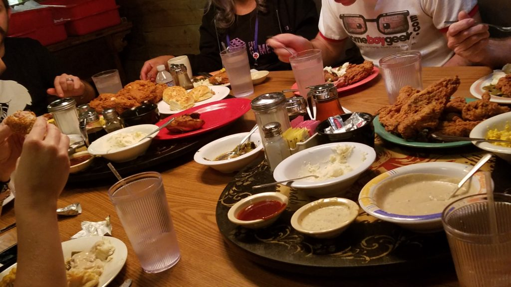 Babe's Chicken Dinner House is served family style, with all-you-can-eat sides!