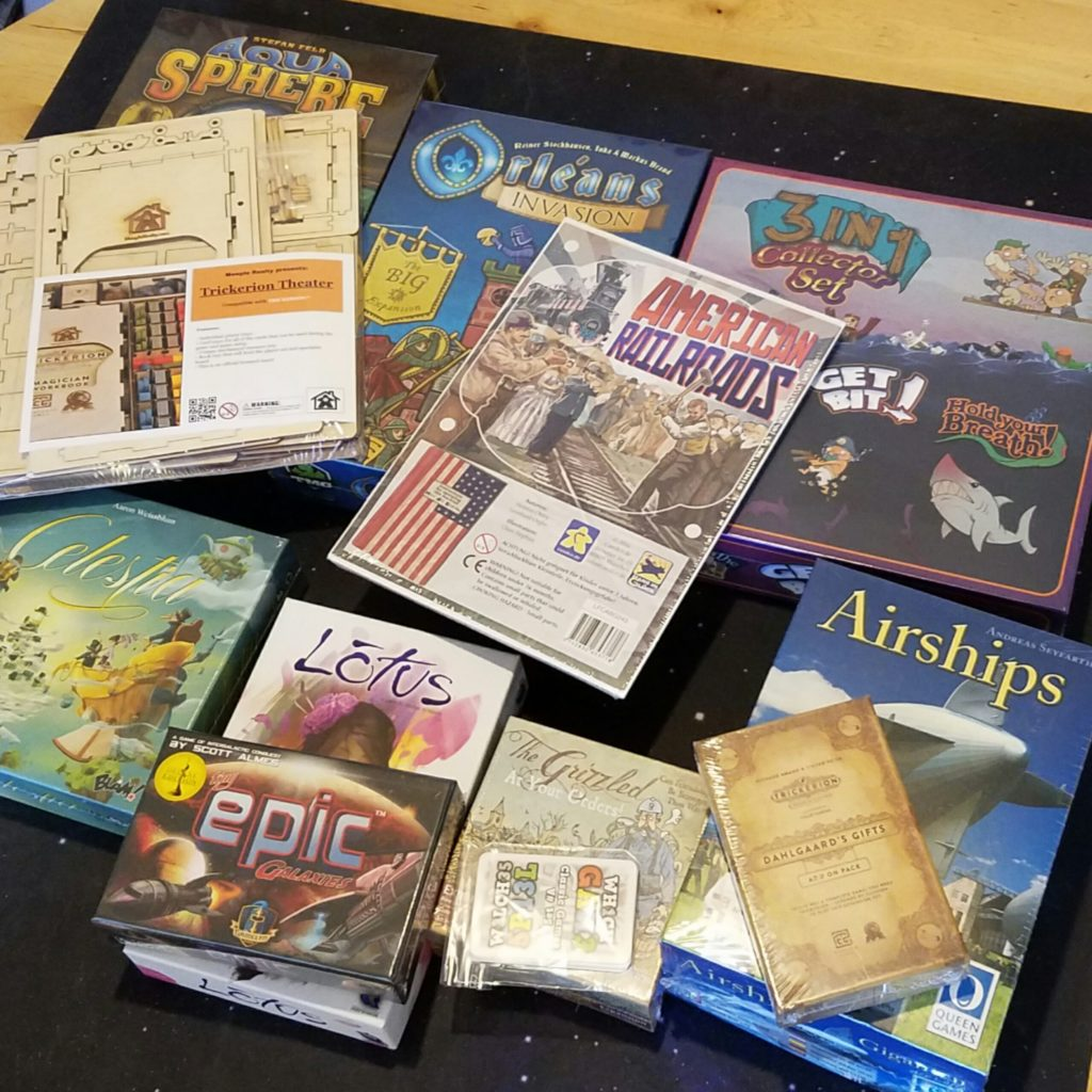 These are all the games I came back home with.