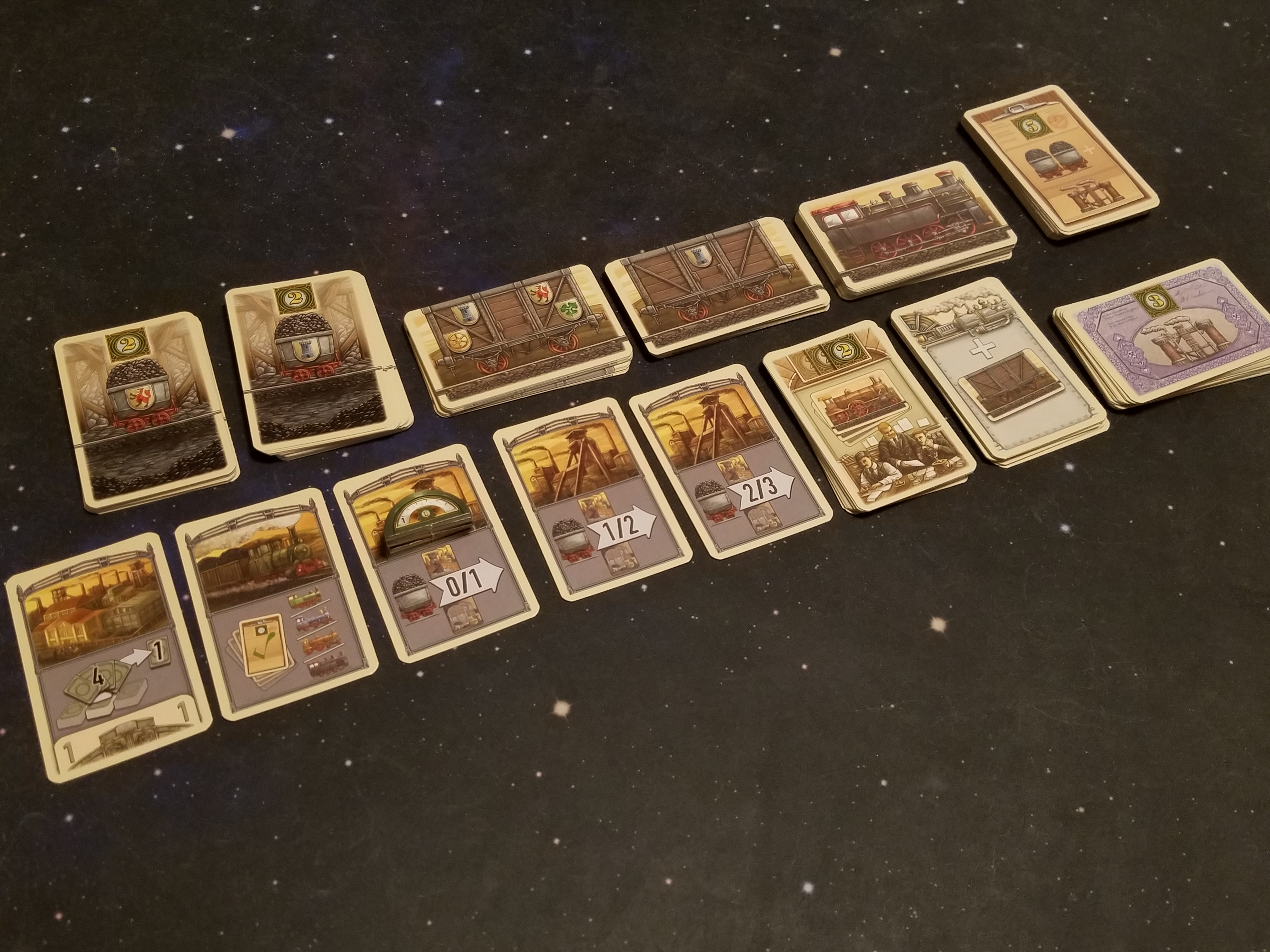 loading lorries into trains in coal baron the great card game
